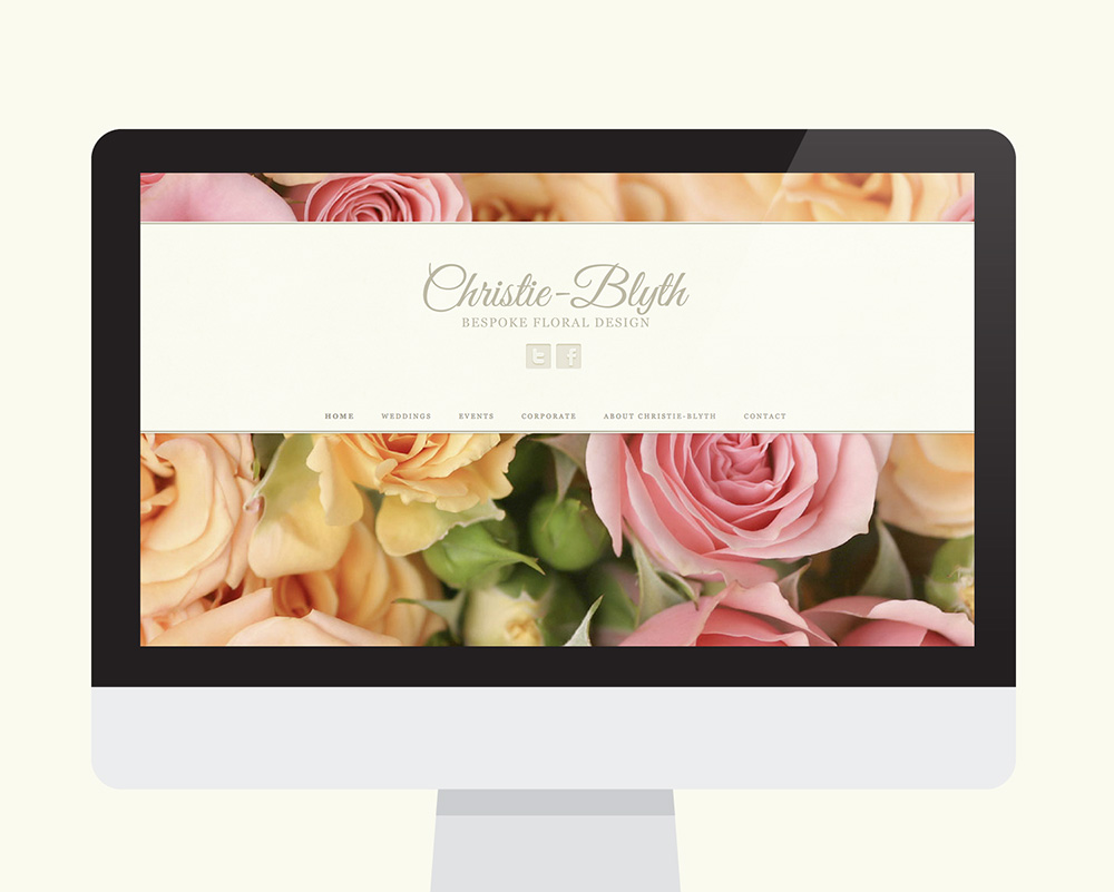 Christie-Blyth website shown on a desktop