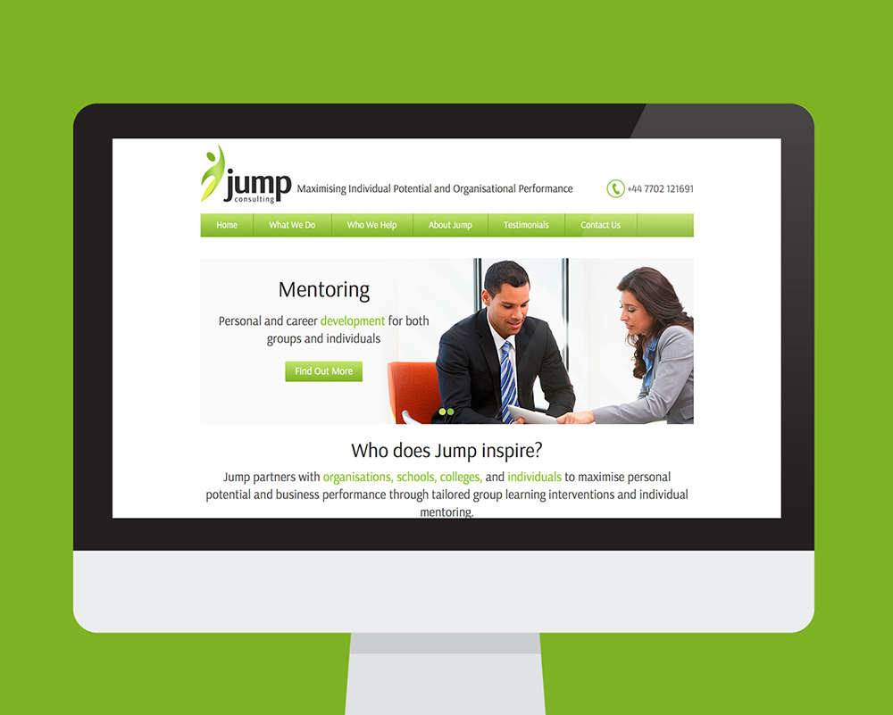 Jump Consulting website shown on a desktop